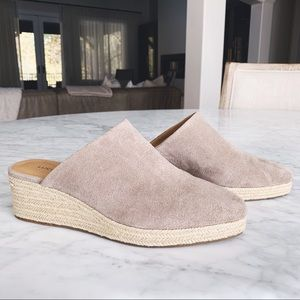 Lucky Brand Gray Open Back Suede Espadrilles